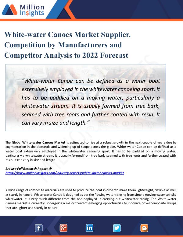 Market Share's White-water Canoes Market Supplier, Competition