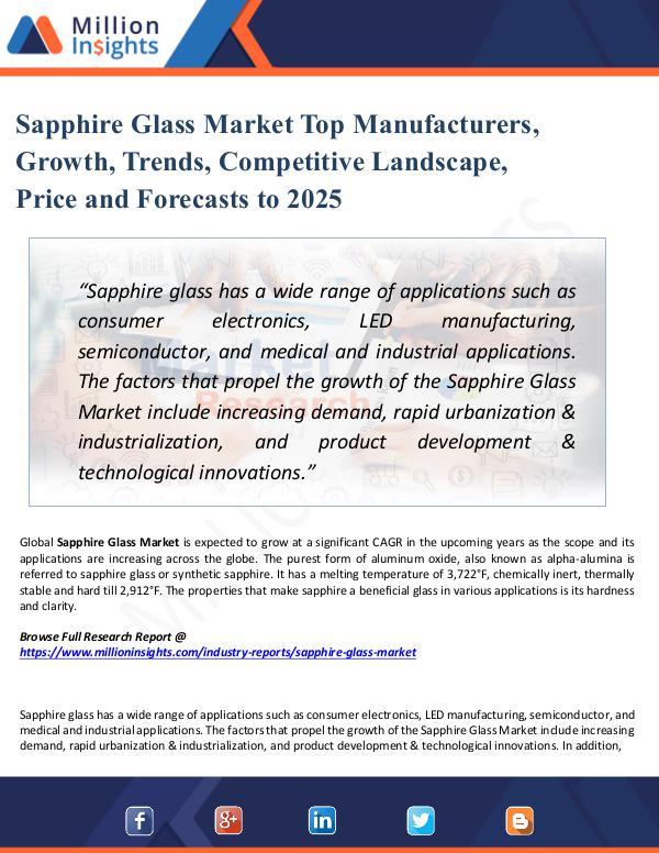 Market Share's Sapphire Glass Market Top Manufacturers, Growth,