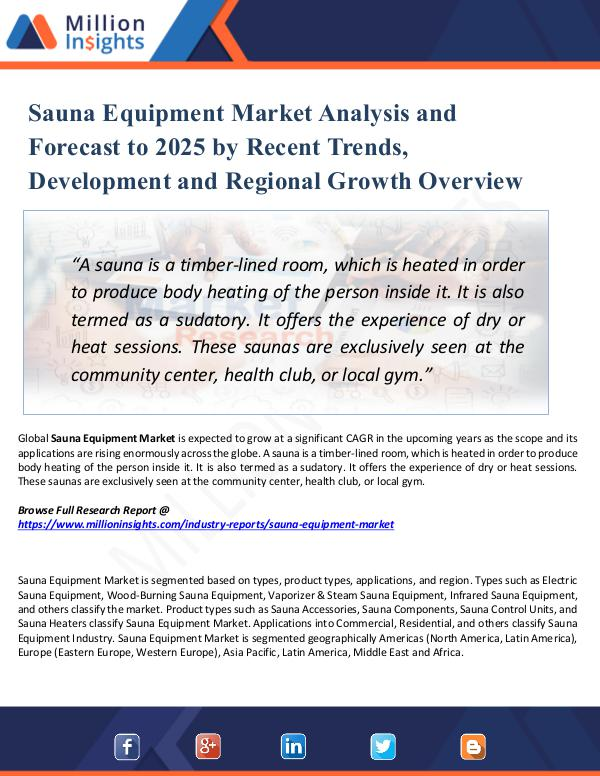 Market Share's Sauna Equipment Market Analysis and Forecast 2025