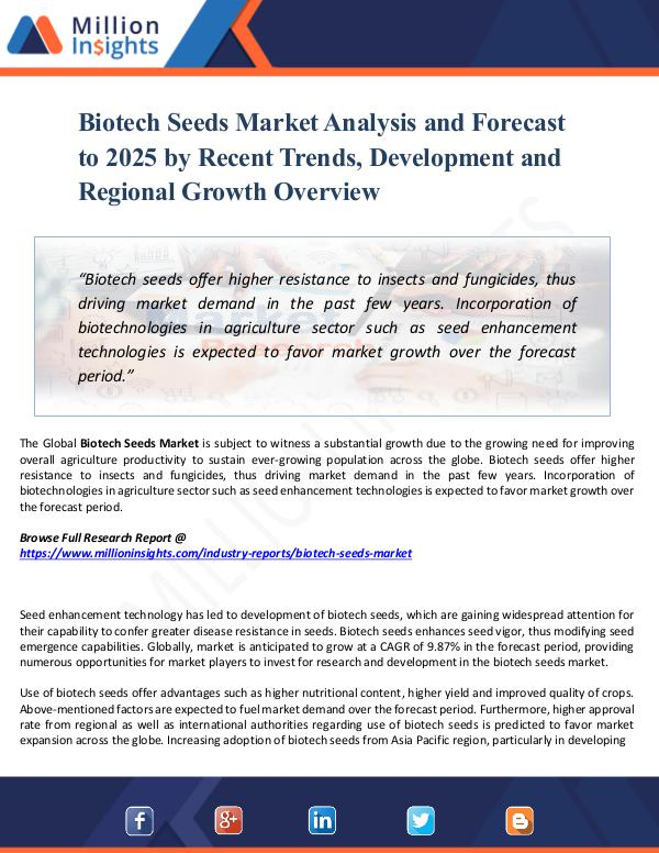 Market Share's Biotech Seeds Market Analysis and Forecast to 2025