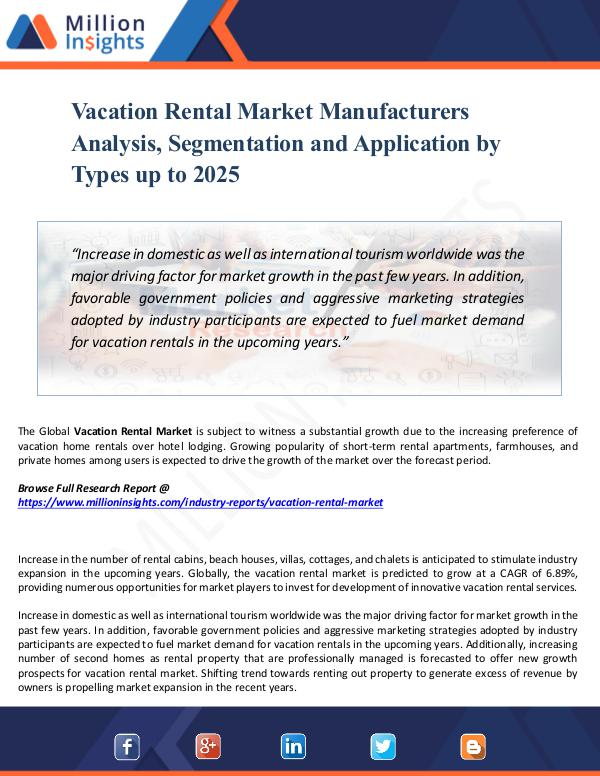 Vacation Rental Market Manufacturers Analysis,