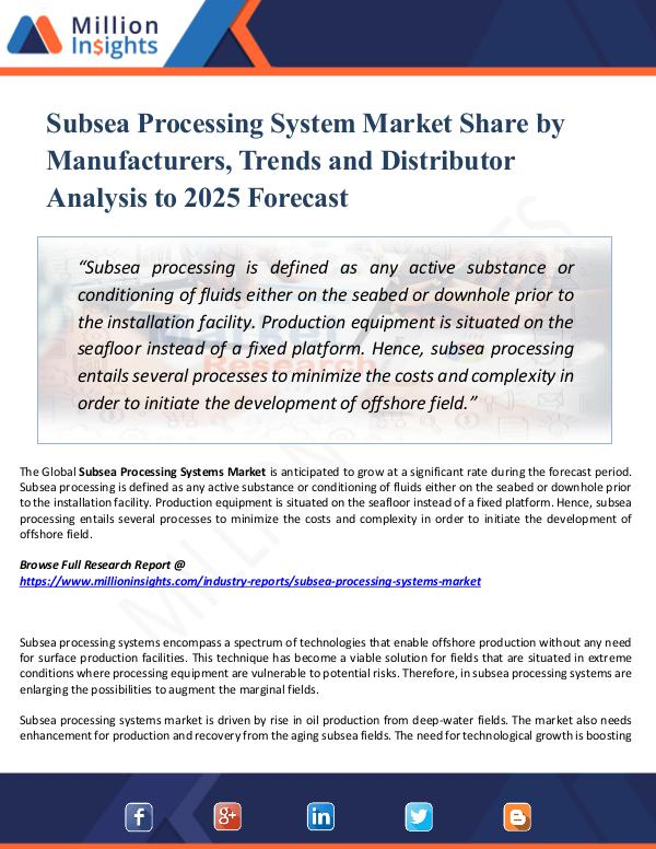 Market Share's Subsea Processing System Market Share by Manufactu
