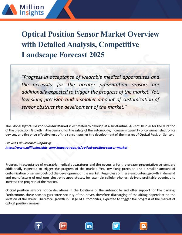 Optical Position Sensor Market Overview with 2025