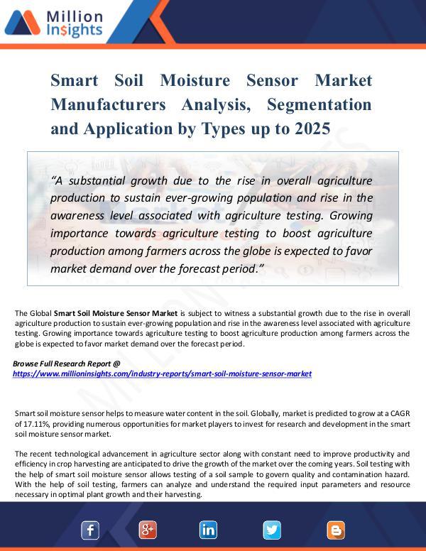 Smart Soil Moisture Sensor Market Manufacturers