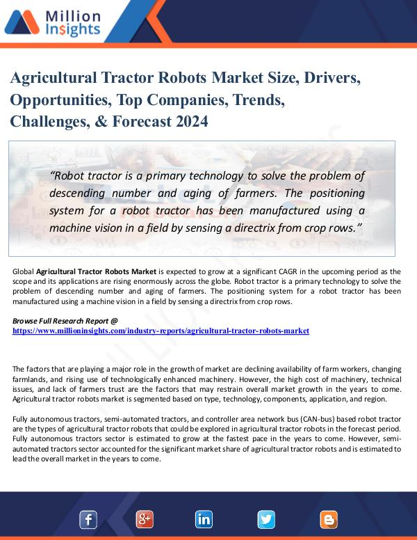 Agricultural Tractor Robots Market Sales Channel,