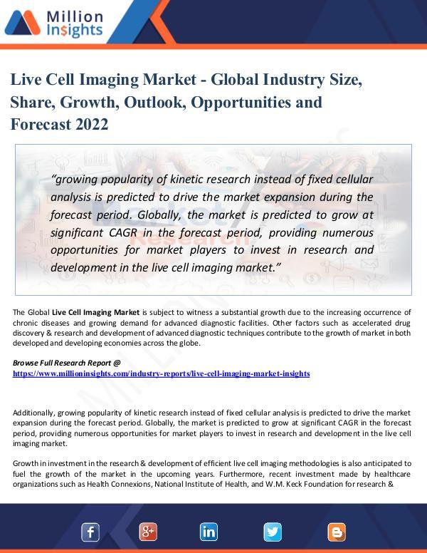 Live Cell Imaging Market Technological Advancement