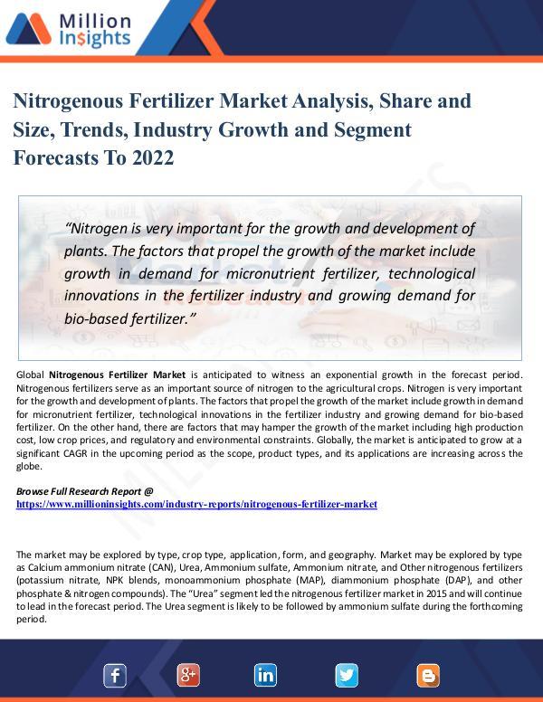 Nitrogenous Fertilizer Market - Global Industry