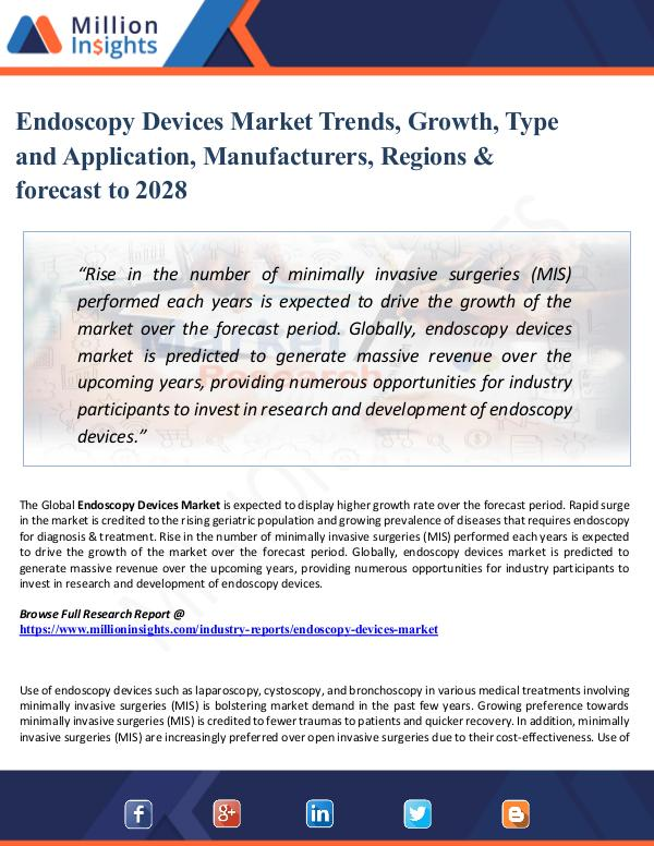 Chemical Market ShareAnalysis Endoscopy Devices Market Trends, Growth, Type and