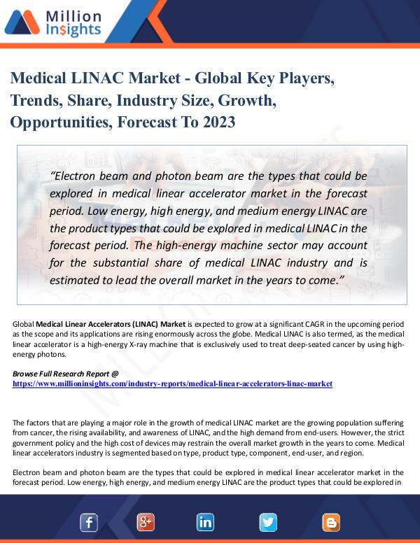 Medical LINAC Market - Global Key Players, Trends,