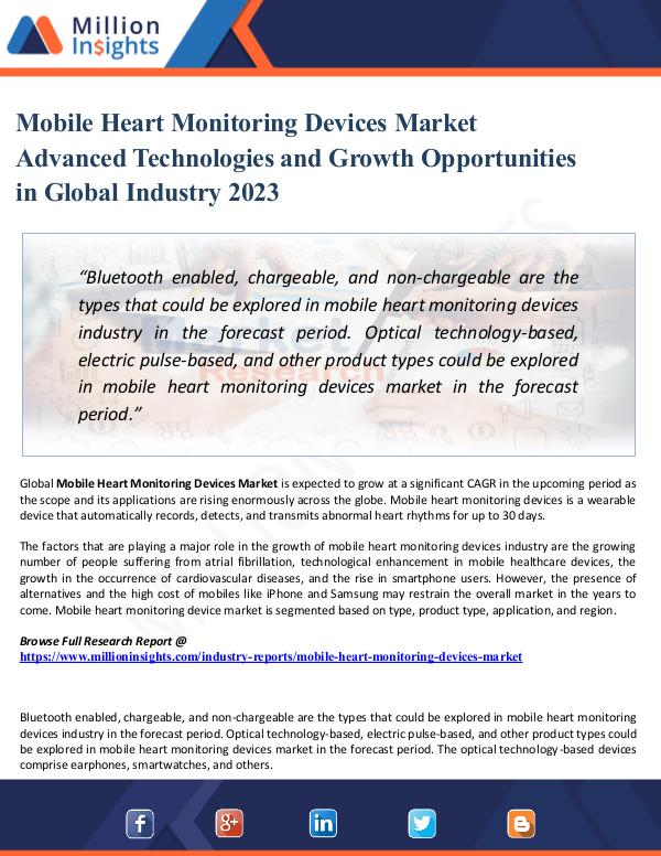 Mobile Heart Monitoring Devices Market Advanced Te