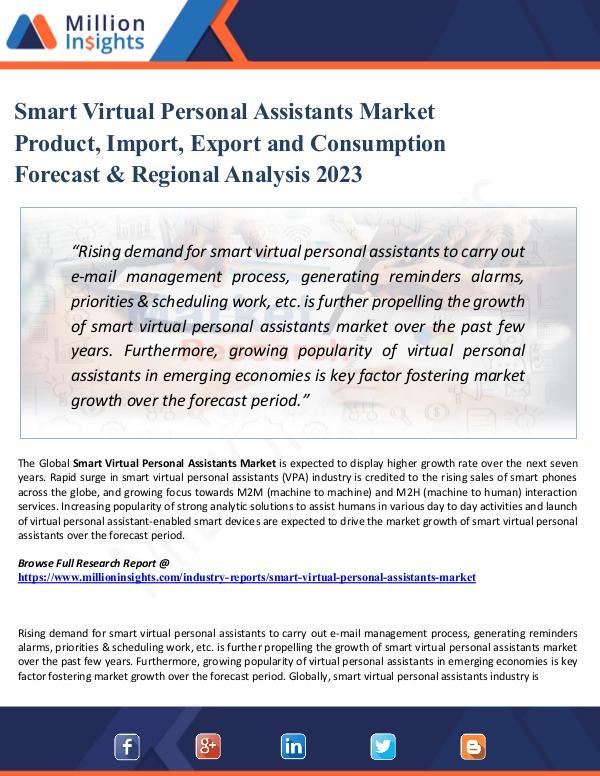 Smart Virtual Personal Assistants Market Product,