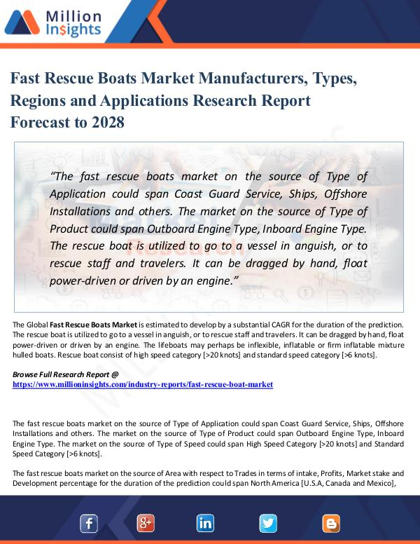 Chemical Market ShareAnalysis Fast Rescue Boats Market Manufacturers, Types, Reg