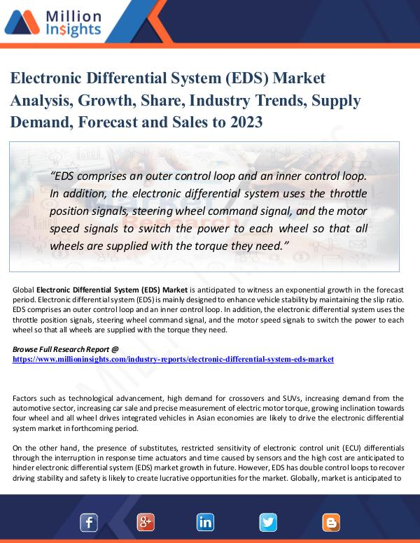 Electronic Differential System (EDS) Market Analys