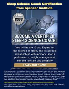 Sleep Science Coach Certification from Spencer Institute