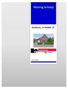 PresentatieBOEKJE Duitsland Schalbruch Im Heidfeld 13