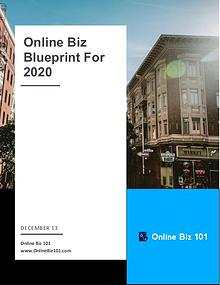 Online Business Blueprint For 2020