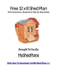 Free 12 X 8 Shed Plan For Anyone To Download