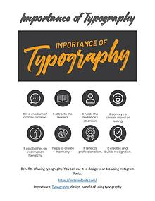 Importance of Typography
