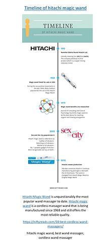 Timeline of hitachi magic wand