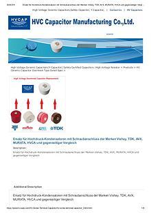 Ersatz für Hochdruck-Kondensatoren mit Schraubanschluss