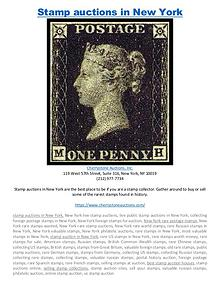 Stamp auctions in New York