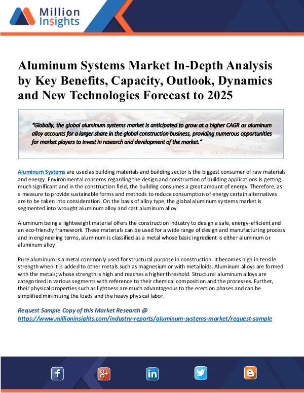 MarketReports Aluminum Systems Market Size & Forecast Report