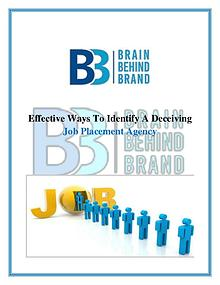 Effective Ways To Identify A Deceiving Job Placement Agency