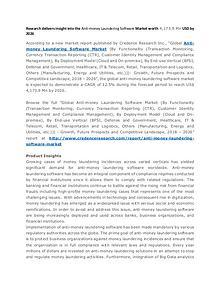 Global Anti-money Laundering Software Market 2026