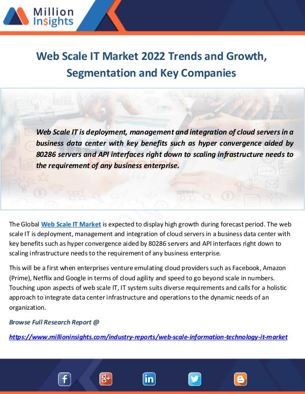 Industry and News Web Scale IT Market 2022 Trends and Growth