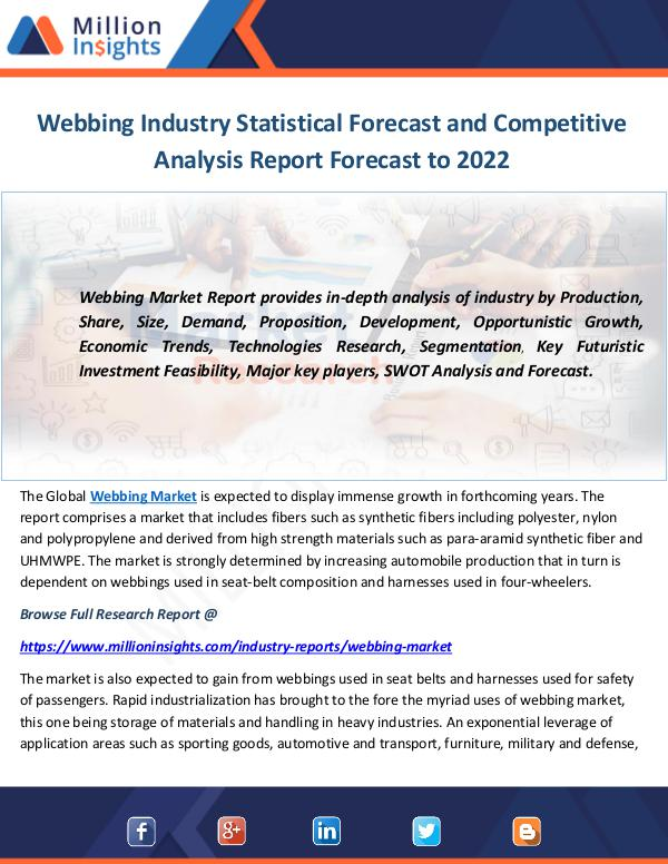 Industry and News Webbing Industry Statistical Forecast