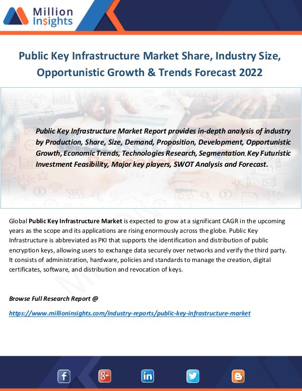 Industry and News Public Key Infrastructure Market