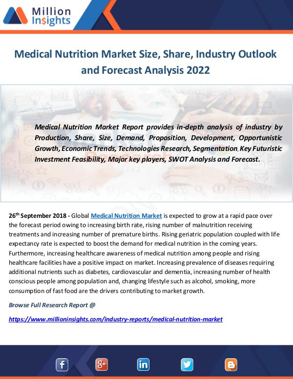 Industry and News Medical Nutrition Market