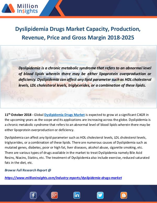 Industry and News Dyslipidemia Drugs Market