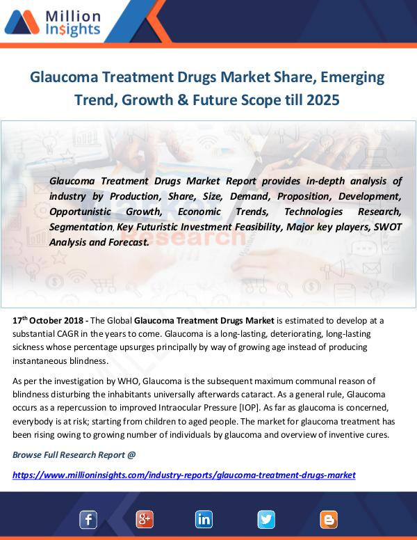 Industry and News Glaucoma Treatment Drugs Market