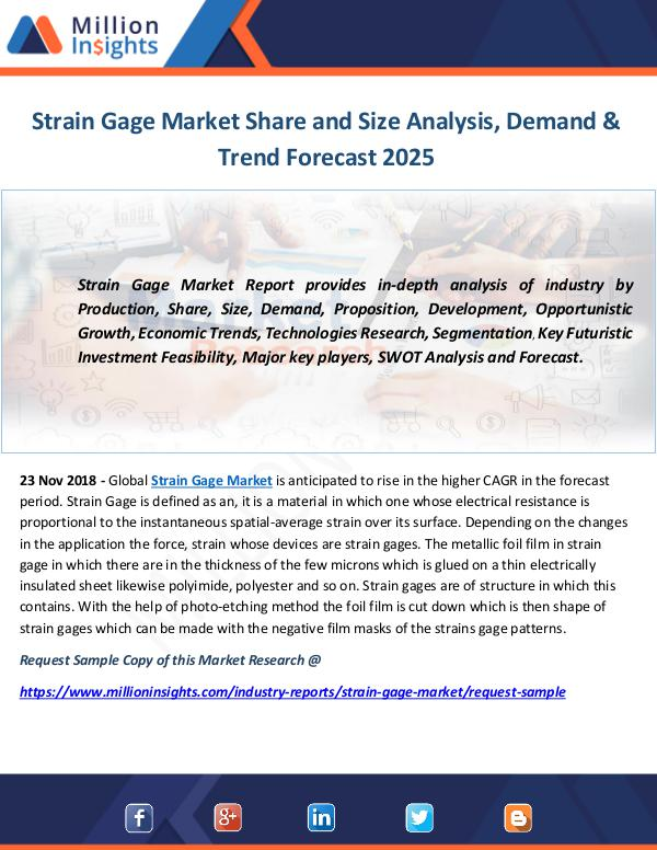 Industry and News Strain Gage Market