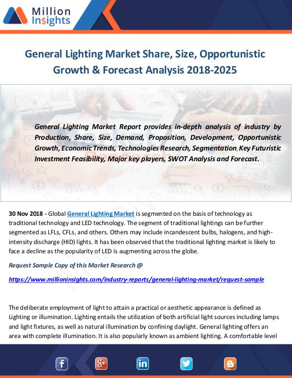 Industry and News General Lighting Market