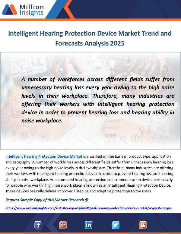 Industry and News Intelligent Hearing Protection Device Market