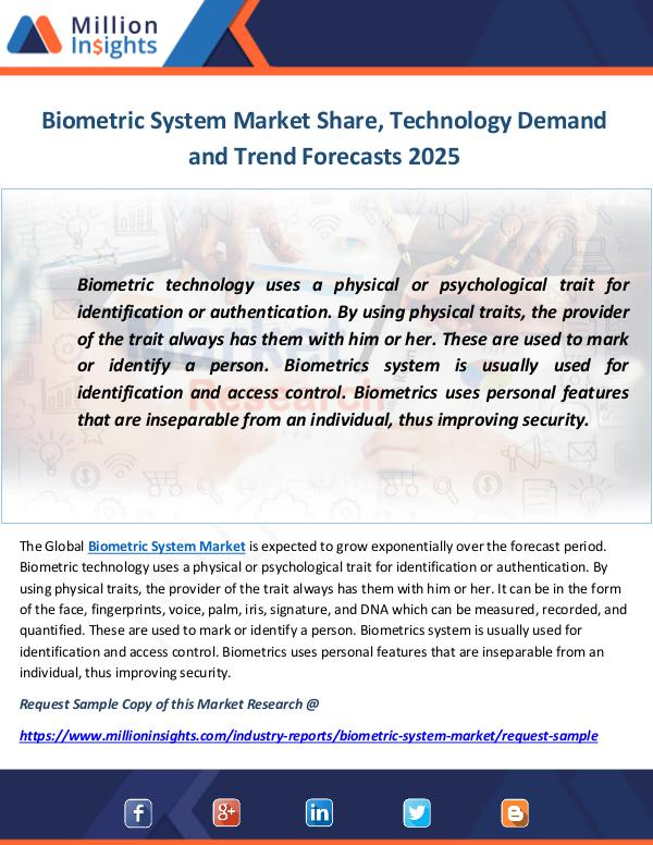 Industry and News Biometric System Market