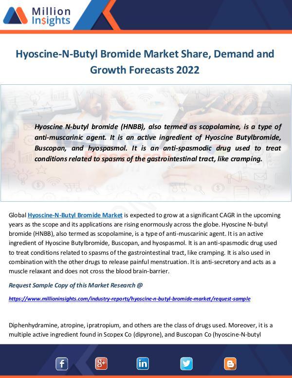 Industry and News Hyoscine-N-Butyl Bromide Market