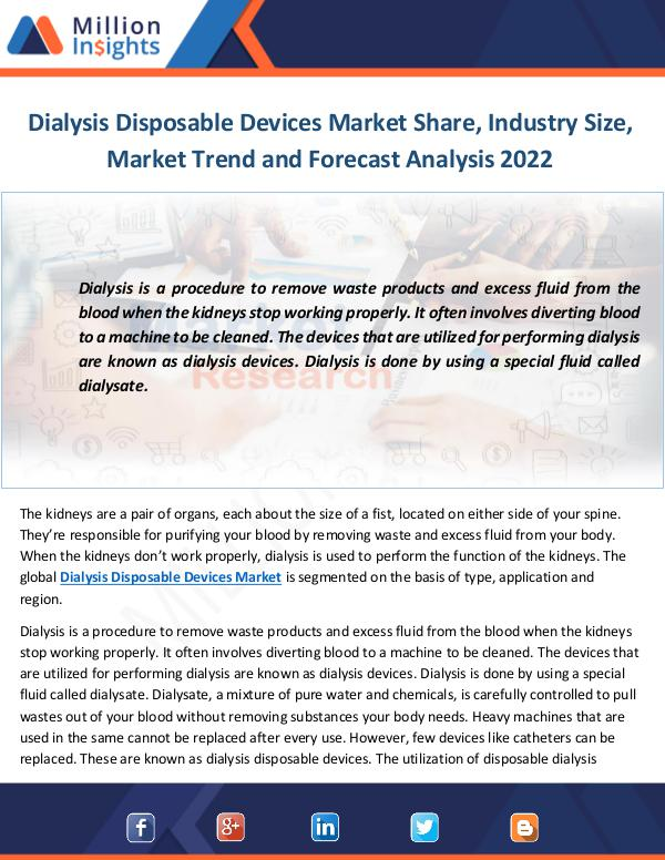 Dialysis Disposable Devices Market