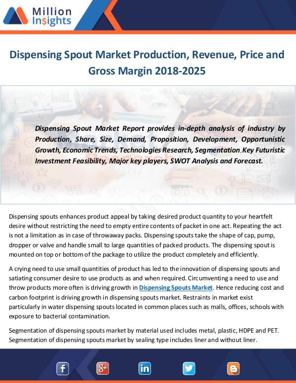Dispensing Spout Market