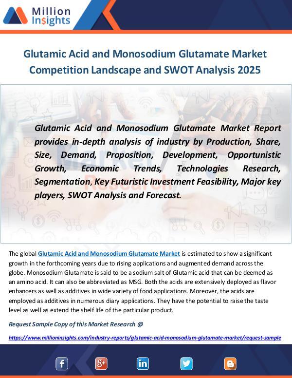 Glutamic Acid and Monosodium Glutamate Market