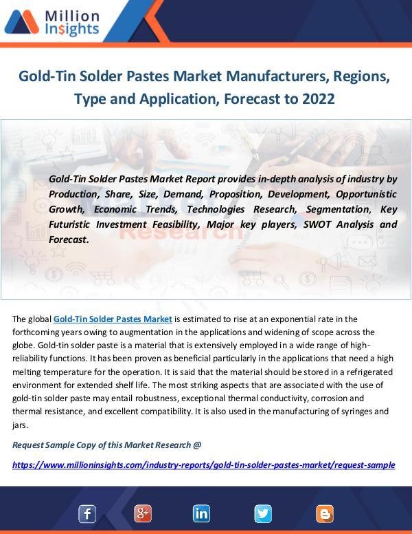Gold-Tin Solder Pastes Market