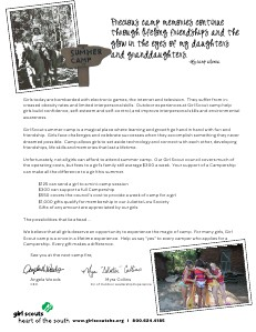 Camp Newsletter and Campership Appeal Campership_Newsletter