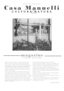 Casa Manuelli Magazine Casa Manuelli numero Uno
