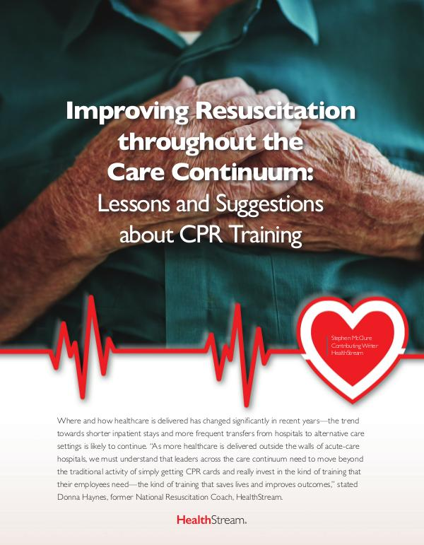 Articles-Thought Leadership Improving Resuscitation throughout the Care Contin