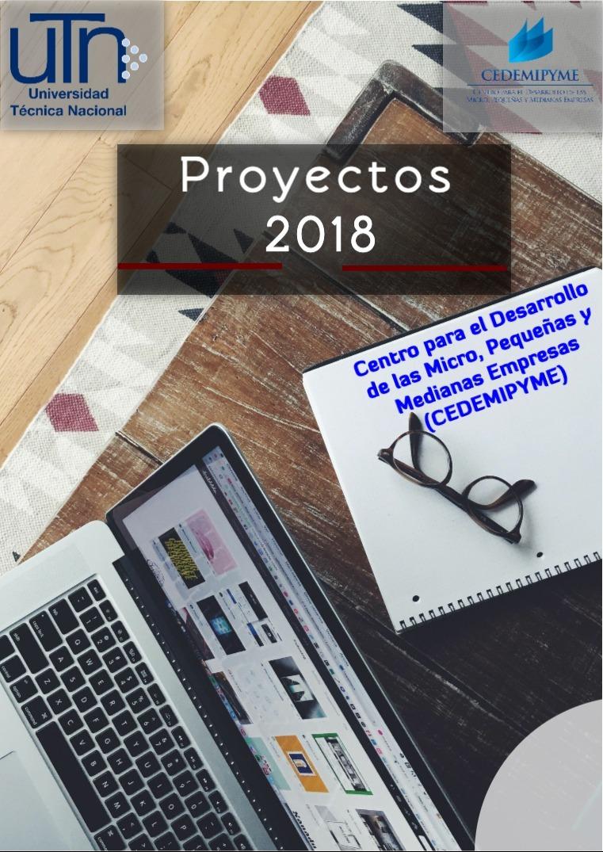 PROYECTOS 2018 REVISTA DE PROYECTOS 2018