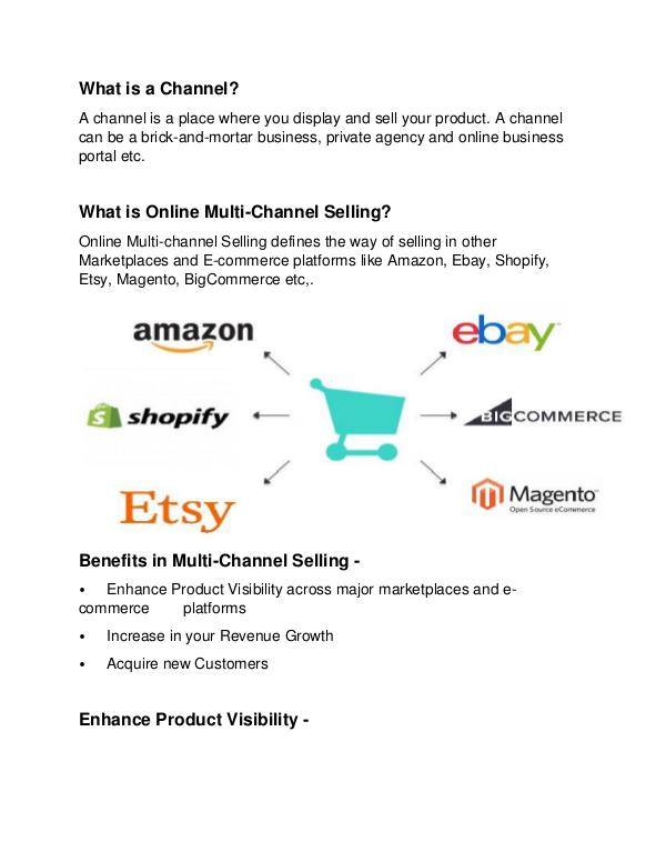 Steps to Improve E-commerce Selling Benefits of Multi-Channel Selling