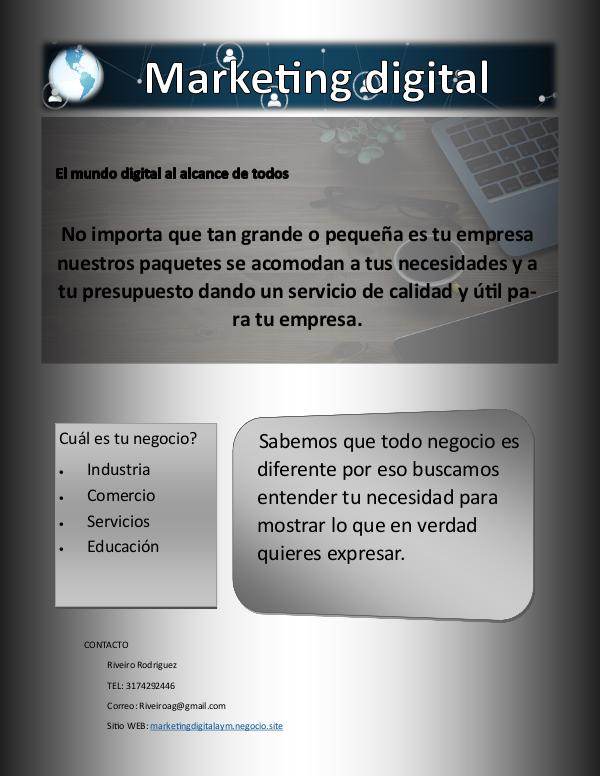Marketing digital AyM portafolio