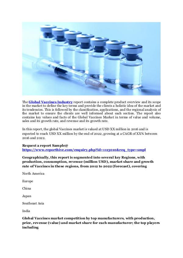 Medical Devices Vaccines Technology Trend and Market Forecast 2022
